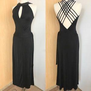 Bebe Gorgeous Jeweled Back Evening Dress